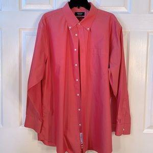 NORDSTROM 100% Cotton Winkle Free dress shirt 17.5